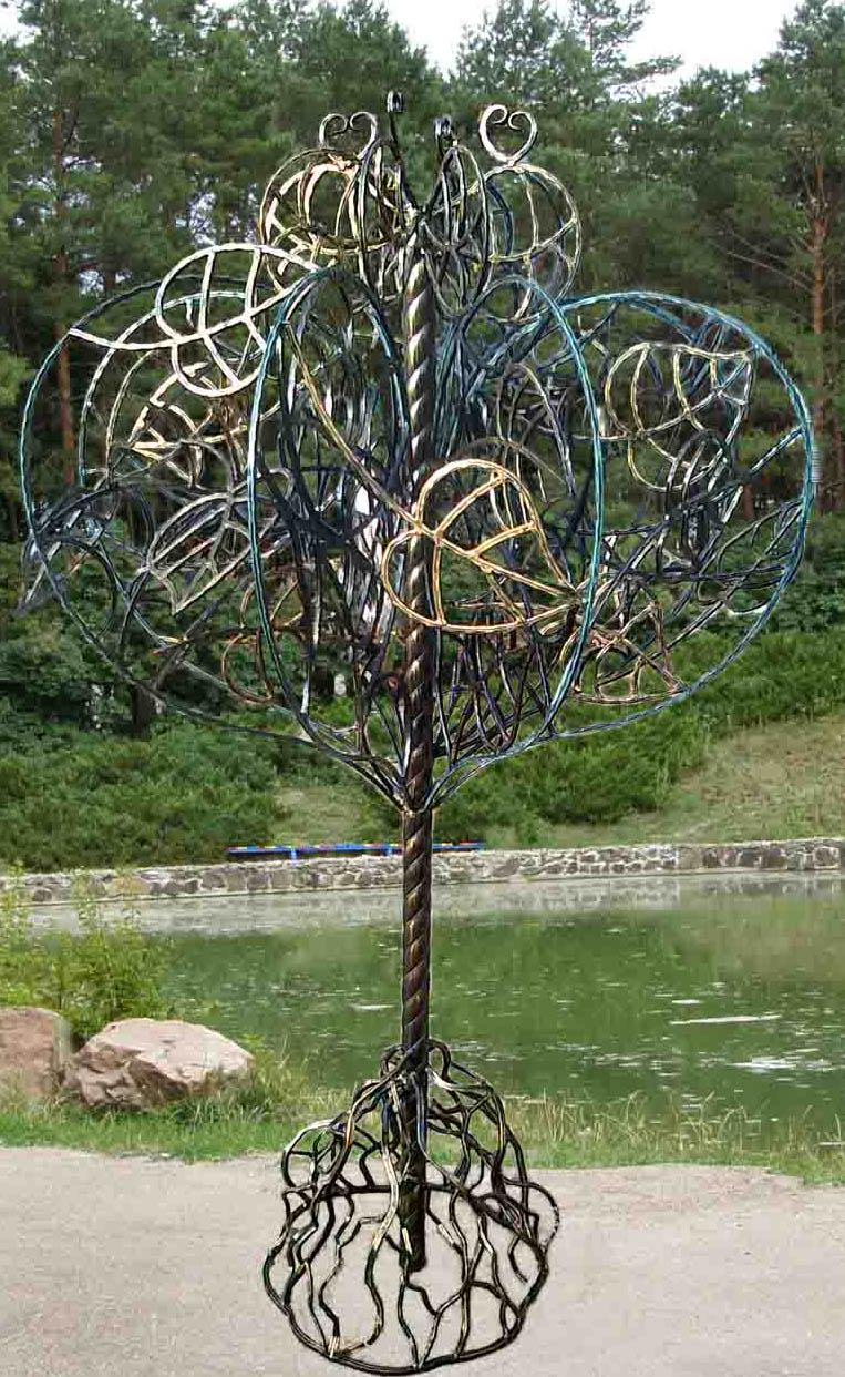 Как сделать металлическое дерево 3